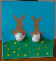 Cute little bunny crafts pinned by Clutter-Free Classroom