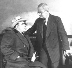 Capone with deputy chief of police, John Stege, who eventually asked Capone to leave Chicago.