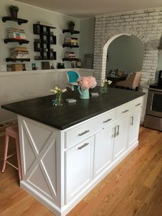 Item Kitchen Island with Seating, Custom Kitchen Island – Home Trends 2020 Kitchen Island Decor, Modern Kitchen Island, Kitchen Island With Seating, Kitchen Island Ends, Islands For Small Kitchens, Custom Kitchen Islands, Kitchen Island With Drawers, Build Kitchen Island, Kitchen Island Dimensions With Seating