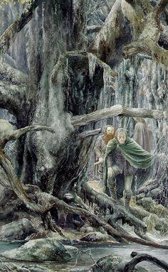 """Alan Lee """"Searching Fangorn"""""""