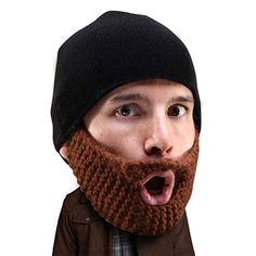 5ea55c236a4 Beard Head Stubble Populous Beard Beanie - Funny Knit Hat w Fake Beard  Facemask