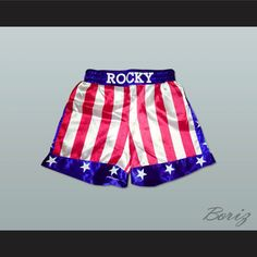 Want to buy Sylvester Stallone Rocky Balboa American Flag Boxing Shorts All Sizes, Rocky-Shorts ? Pay A Visit to http://www.borizcustomsportsjerseys.com/product-p/rocky-shorts.htm