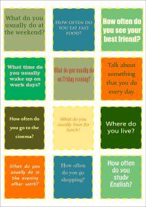 Conversation Cards Present Simple
