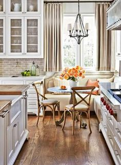 22 Pedestal Tables for Dining or Entry Room Interiorforlife.com Ideas for Kitchen Banquettes