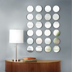 Four Circles Mirrored Wall Decor