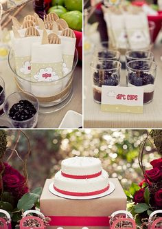 Little Red Ridding Hood Party - Dirt Cupcakes