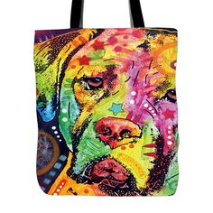 Mastiff Series Tote Bags - Dean Russo Art