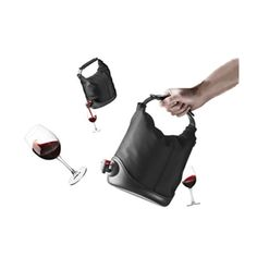 Wine Purse.  Classy way to carry wine - better than a paper bag LOL