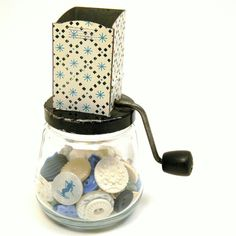 Atomic Star Grinder Vintage 1950s Metal & Glass by BlissandVinegar, $15.50