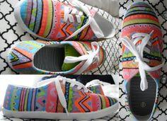 DIY Canvas shoe! Soo cute!