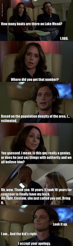 This scene is everything❤️ You question Spencer Reid, it will blow up in your face.