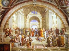 One of my favorite paintings: The School of Athens - Raffaello Sanzio