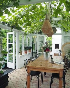 amazing greenhouse in Aalborg, Denmark Pergola With Roof, Pergola Patio, Diy Patio, Backyard Patio, Outdoor Rooms, Outdoor Living, Outdoor Decor, Dream Home Design, House Design