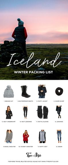 ICELAND | Winter Packing List All the essential clothing pieces you'll need for a short 4-day stay in Iceland. Click through now to read the entire post!