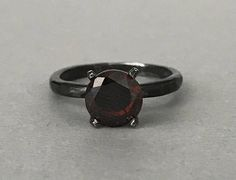 Round Cut Chocolate Brown Simulated Diamond 8MM Stone Sterling