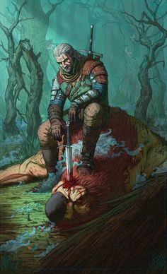 Good Hunt – The Witcher 3 fan art by Timofey Stepanov The Witcher Wild Hunt, The Witcher 3, Witcher 3 Art, The Witcher Books, Medieval Fantasy, Dark Fantasy, Fantasy Art, Dungeons And Dragons, Witcher Wallpaper