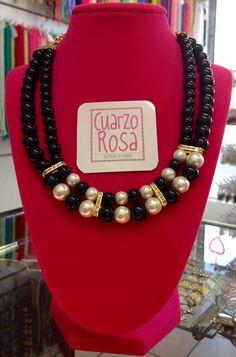 Collar de perla cristal * Crystal pearl necklace