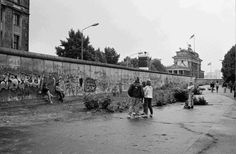June 1989: The Western side of the Wall leading to the Brandenburg Gate.