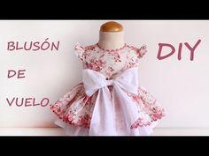 Como hacer un blusón de vuelo para niña. DIY. - YouTube