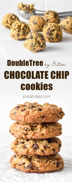 Double Tree chocolate chip cookies - polabaker.com  #chocolatechip #cookies #chocolatechipscookies #chocolate #doubletreebyhilton #doubletree #hilton #recipe #baking #dessert #food #foodphoto #foodphotography #polabaker #bake #cookie