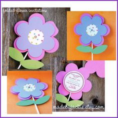 Garden Flower Party Invitations  set of 12 by prettypaperparty, $36.00
