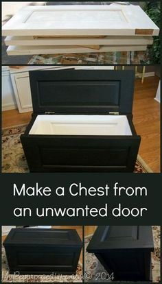 How to make a chest/trunk from a paneled door