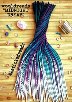 #fullheadset #midnightdream #wooldreads #teal #purple #wooldreadlocks #dreads #dreadlocks #extensions #dreadextensions #braids #locs #hairstyles #dreadstyles #girlswithdreads #dreadstagram #instadreads #dreadgirl #turquoise #bluehair #colorfuldreads #etsy #getdreadyforhappiness