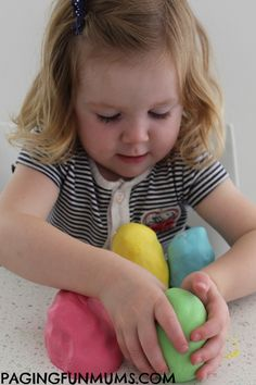 Soft as a cloud playdough, using only two ingredients and no cooking. It's not edible!