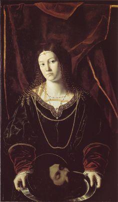 https://ru.wikipedia.org/wiki/Саломея Саломея (картина Бартоломео Венето), 16 век.