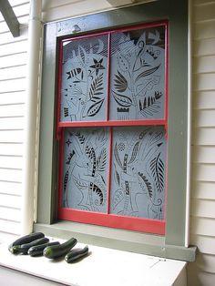 Basia Smolnicki- Sandblasted Bathroom window