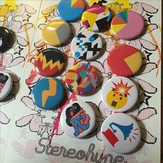 💥 various Stereohype #button #badge #pin gems http://stereohype.com 🍭