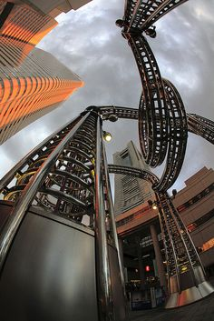Yokohama, Japan looking up at the Landmark Tower ~so futuristic!  #travelcompanion