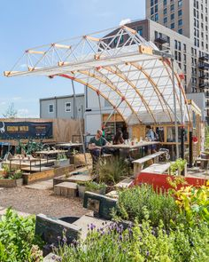 bartlett architecture students construct movable garden in central london