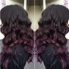 Subtle dark to purple ombre at Oliver Finley Academy of Cosmetology