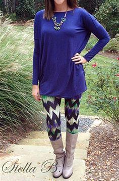 chevron leggings, perfect for fall/winter with a piko tunic!!! stella b.
