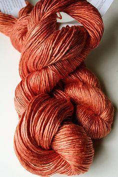 selecting a colorscheme for the next KAL with Artyarns: Regal Silk yarn   222 Squashy Pumpkin