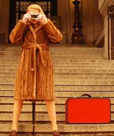 A young Margot Tenenbaum with her T. Anthony luggage.
