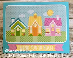 Good morning friends I have a quick Thank You card to share today, made with a patterned paper panel from Doodlebug and other bits & piec. New Home Cards, Good Morning Friends, Thank You Cards, Kids Rugs, Paper, Appreciation Cards, Kid Friendly Rugs, Wedding Thank You Cards, New Address Cards