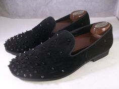 159ee6c40c2 STEVE MADDEN MEN S CASCADE SLIP-ON SMOKING SLIPPERS BLACK SUEDE 8 MEDIUM   125 M