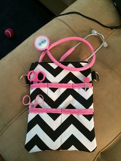 7.5x10in nurse supply bag: holds stethoscope and other supplies!!! $25 is a lot better than $40