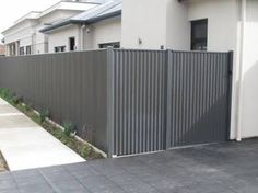 brick and colourbond fence - Google Search
