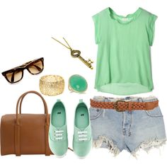 casual outfit..everything MINT! :)