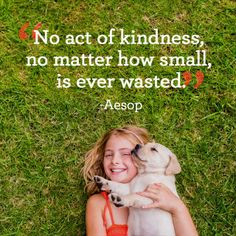 """""""No act of kindness, no matter how small, is ever wasted."""" Inspirational Life Lessons, Inspirational Words Of Wisdom, Important Life Lessons, Motivational Words, Today Quotes, Work Quotes, Encouraging Quotes For Women, Miracles Happen Everyday, Faith In Humanity"""
