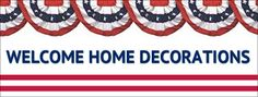 Decorate with our Welcome Home Decorations to show your returning soldier how proud you are of their service.