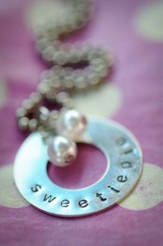 Washer Stamping from Sweetiepie Necklace Tutorial