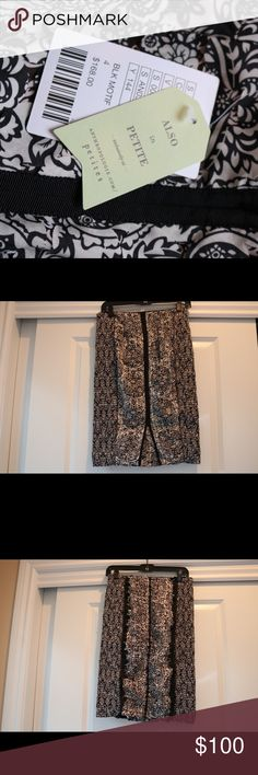 A black and white pencil skirt Easy to dress up or wear to work. Place an offer today! Anthropologie Skirts Pencil