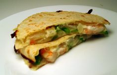 Shrip and Goat Cheese Quesadillas