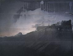 Piz Lunghin - Gerhard Richter Öl auf Leinwand