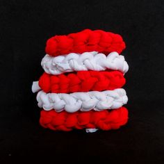 England football supporters! These red and white bracelets are handmade for YOU! Soft jersey knit stretchy bracelets, one size fits all. Get yours for the World Cup! #England #WorldCup #WorldCup2014 #English #Colorogy