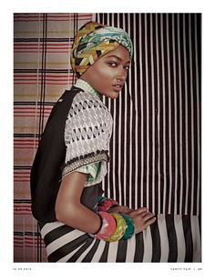 visual optimism; fashion editorials, shows, campaigns & more!: africa and the city: nur hellmann by kenneth willardt for vanity fair italia 16th april 2014